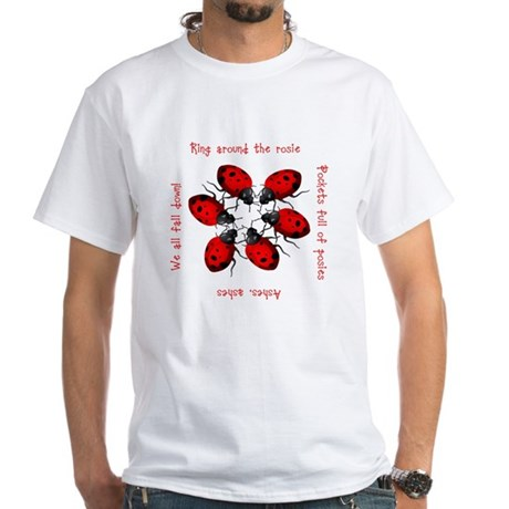 Ladybugs Playing White T-Shirt