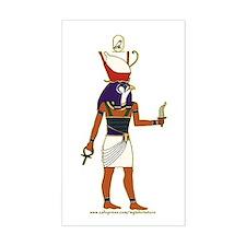 Horus Hieroglyph Rectangle Decal