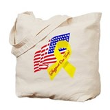 Support Our Troops US Flag Tote Bag
