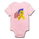 Support Our Troops US Flag Infant Bodysuit