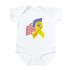 Support Our Troops US Flag Infant Bodysuit