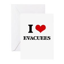 I love Evacuees Greeting Cards