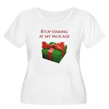 Stop Staring at my Package Christmas Present Plus