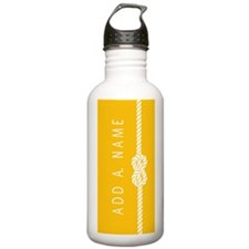 Yellow Gold Rope Knot Water Bottle