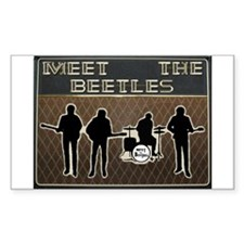 Meet The Beetles Rectangle Stickers