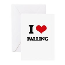 I love Falling Greeting Cards
