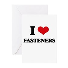 I Love Fasteners Greeting Cards