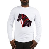 Gift Horse Friesian Holiday Long Sleeve T-Shirt