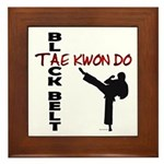 Tae Kwon Do Black Belt 2 Framed Tile