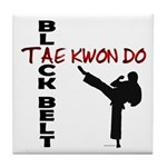 Tae Kwon Do Black Belt 2 Tile Coaster
