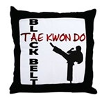 Tae Kwon Do Black Belt 2 Throw Pillow