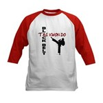 Tae Kwon Do Black Belt 2 Kids Baseball Jersey