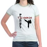 Tae Kwon Do Black Belt 2 Jr. Ringer T-Shirt