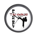 Tae Kwon Do Black Belt 2 Wall Clock