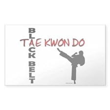 Tae Kwon Do Black Belt 2 Rectangle Decal