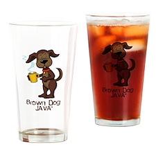 brown dog Drinking Glass