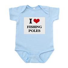 I Love Fishing Poles Body Suit