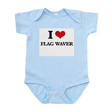 I Love Flag Waver Body Suit