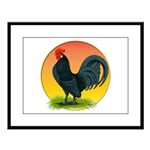 Sunrise Dutch Bantam Large Framed Print