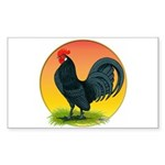 Sunrise Dutch Bantam Rectangle Sticker