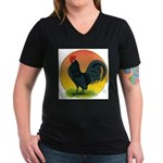 Sunrise Dutch Bantam Women's V-Neck Dark T-Shirt