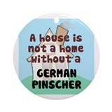 German Pinscher Home Ornament (Round)