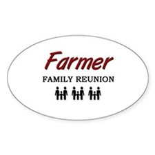 Farmer Family Reunion Oval Decal