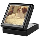 Puppy and Pheasant Keepsake Box