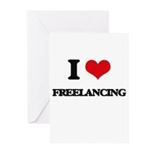 I Love Freelancing Greeting Cards