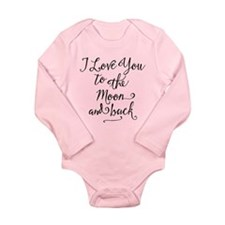 I Love You To The Moon Long Sleeve Body Suit
