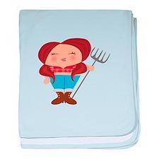 Farmer Girl baby blanket