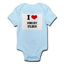 I Love Fruit Flies Body Suit