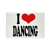 I Love Dancing Rectangle Magnet (10 pack)