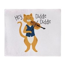 Hey Diddle Diddle Throw Blanket