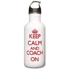 Keep Calm and Coach ON Water Bottle
