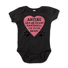 FIN-akita-giant-pawprints-heart.png Baby Bodysuit