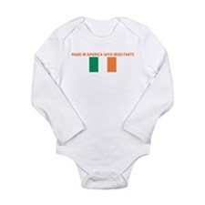 Cute Irish flags Long Sleeve Infant Bodysuit