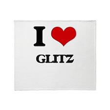 I Love Glitz Throw Blanket