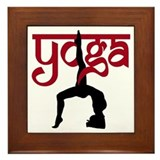 Yoga One-Legged Bridge Pose Framed Tile