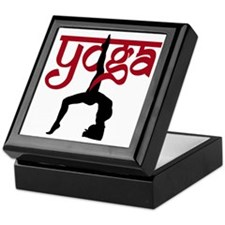 Yoga One-Legged Bridge Pose Keepsake Box