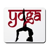 Yoga One-Legged Bridge Pose Mousepad
