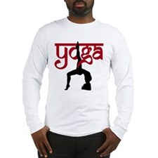 Yoga One-Legged Bridge Pose Long Sleeve T-Shirt