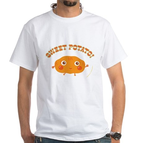 """Sweet Potato"" White T-Shirt"