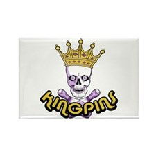 Kingpins Bowling Rectangle Magnet
