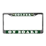 Golfer On Board License Plate Frame