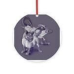 Siamese Dragon Cats Ornament (round)