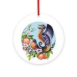 Robin Dragon Ornament (round)
