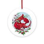 Cardinal Dragon Ornament (round)