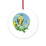 Goldfinch Dragon Ornament (round)