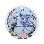Blue Jay Dragon Ornament (round)
